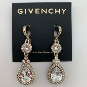 Givenchy Crystal Drop Dangle Earrings NEW $48